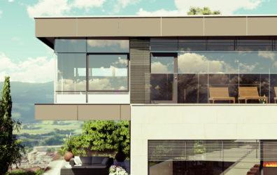 Privathaus in Wolfsberg Detailansicht mit Terassen
